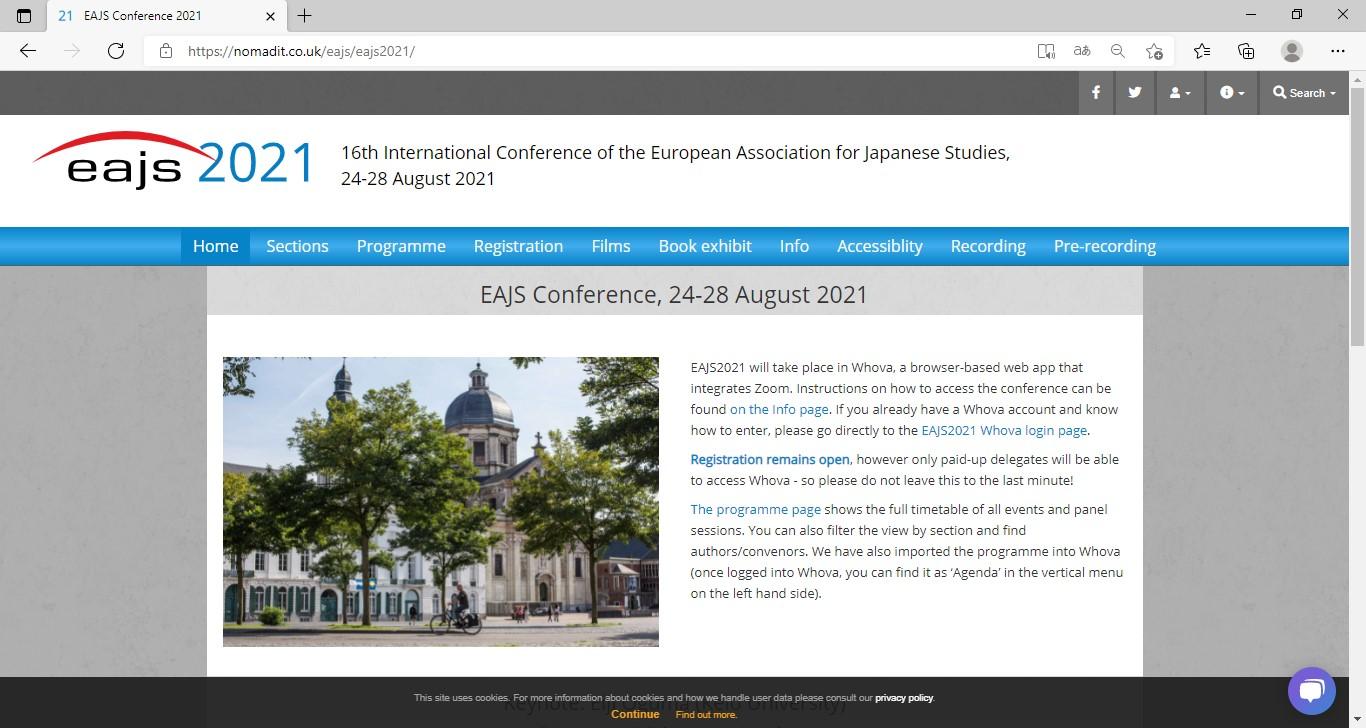 EAJS 2021 web site